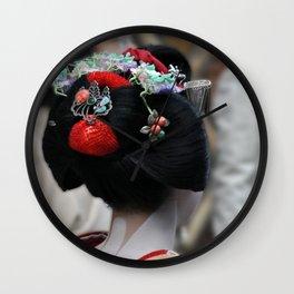 Geisha Maiko Photograph Wall Clock