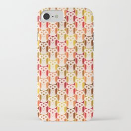Owl Pattern iPhone Case