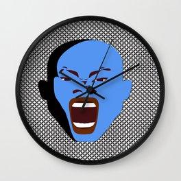 blue man face digital art atalanta creative zollione store Wall Clock