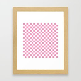 Light Pink Checkerboard Pattern Framed Art Print
