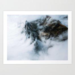 Moody Switzerland Mountain Peaks - Landscape Photography Art Print