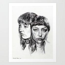 Angel Olsen Ink Portrait Art Print