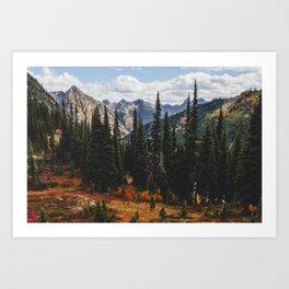 Autumn in North Cascades Art Print