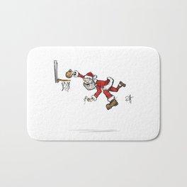Santa dunks more than cookies. Bath Mat