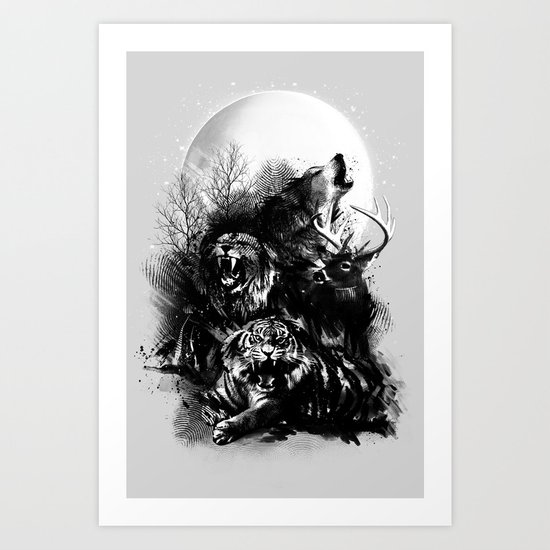 Call of the Wild (GRAY) Art Print