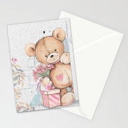 Cute Valentine's Bear Stationery Cards