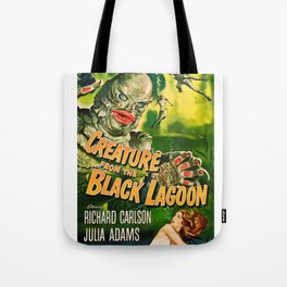 Creature from the Black Lagoon, vintage horror movie poster Tote Bag