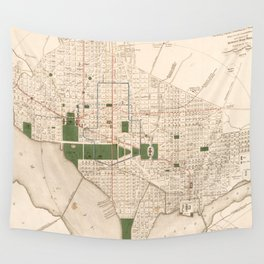 Vintage Map of Washington DC (1876) Wall Tapestry