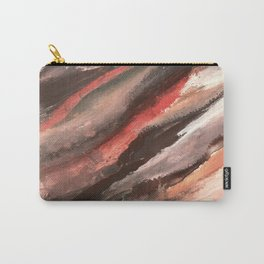 Moving Mountains: an abstract mixed media piece in contrasting pinks, purples, blues, and whites Carry-All Pouch