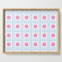 new polka dot 7 -pink and blue Serving Tray