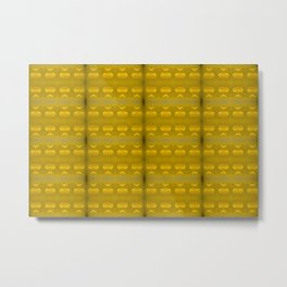 Golden gauze patern Metal Print