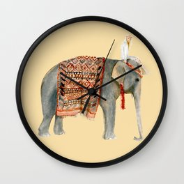 Elephant Ride on Sand Wall Clock