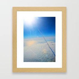 Large Endeavour's Final Voyage To Space, galaxy, world, flight, Print Poster Art Framed Art Print