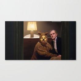 A Man and His Dog - Shining  Canvas Print