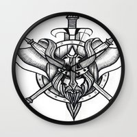 viking Wall Clocks featuring Viking by Liz Guhl @lizaguhl