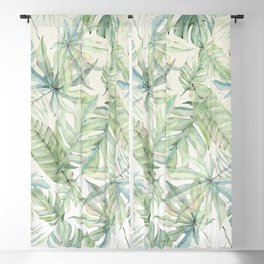 Green Tropical Leaves Blackout Curtain