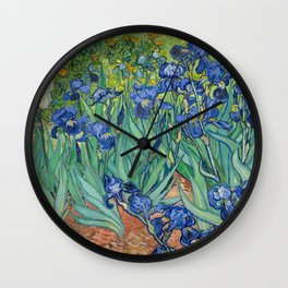 Irises by Vincent Van Gogh, 1889 Wall Clock