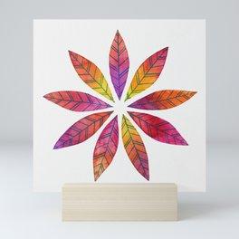 Ring of Leaves - Fall Colors Mini Art Print