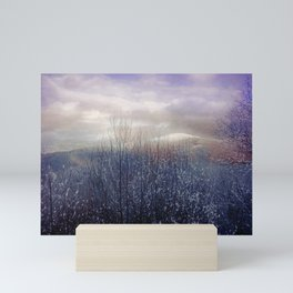 Snow in the Trees Mini Art Print