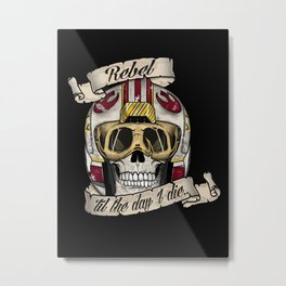 Star Wars Rebel 'til the End Metal Print