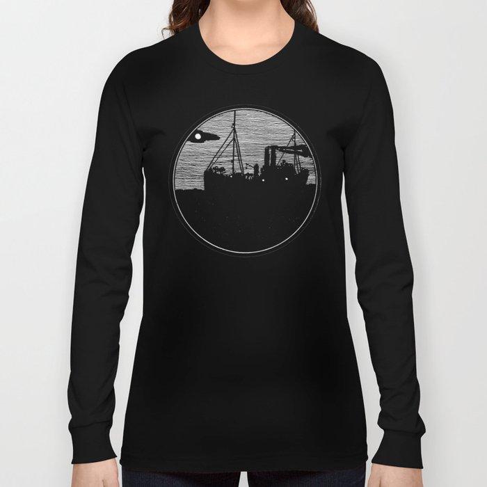 Silent boat. Long Sleeve T-shirt