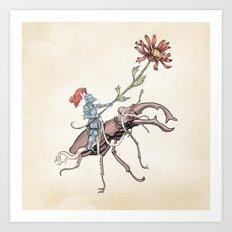 Gentle knight Art Print