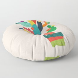 Whimsical Cactus Floor Pillow