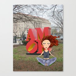 feel the love in DC | DCart Canvas Print