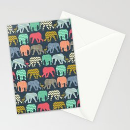 baby elephants and flamingos Stationery Cards