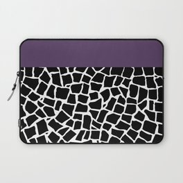 British Mosaic Purple Boarder Laptop Sleeve
