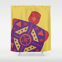 turtle Shower Curtains featuring Turtle by Claire Lordon