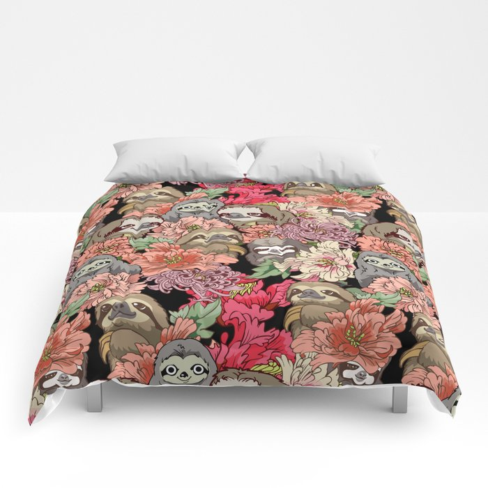 Because Sloths Comforters By Huebucket Society6