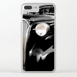 shiny black fenders Clear iPhone Case