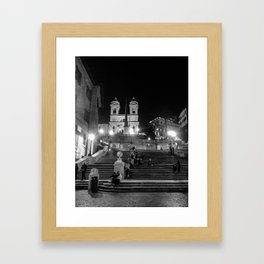 Rome: Spanish Steps Framed Art Print