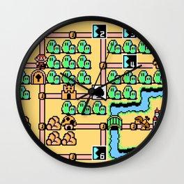 Super Mario Bros 3 World 1 Wall Clock