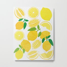 Lemon Harvest Metal Print