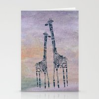 giraffes Stationery Cards featuring giraffes by Bunny Noir