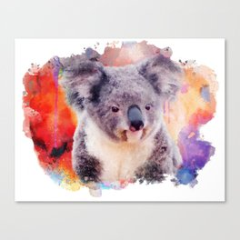 Watercolor Koala Canvas Print