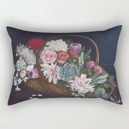 Flower Basket Rectangular Pillow