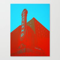 portland Canvas Prints featuring portland by toria