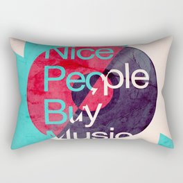 Nice People Buy Music Rectangular Pillow