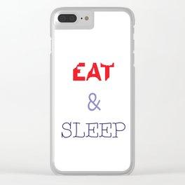 EAT & SLEEP Clear iPhone Case