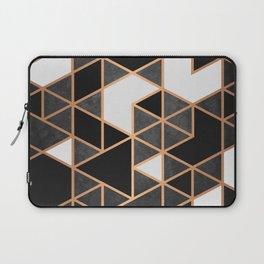 Black and White Mosaic Laptop Sleeve