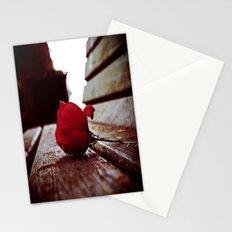 Park bench rose Stationery Cards