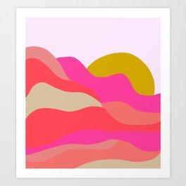 Adelaida, mountain sunset Art Print