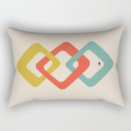 Atomic Geometric Retro Rectangular Pillow