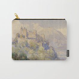Overlooking the Hohenwerfen Fortress in Salzburg by Edward Theodor Compton Carry-All Pouch