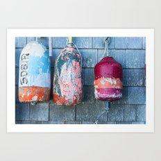Buoys on Block Island Art Print