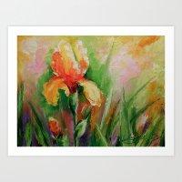 iris Art Prints featuring Iris by OLHADARCHUK