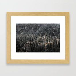 Powdered Mountain Framed Art Print